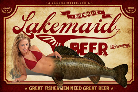 Lakemaid Beer Poster