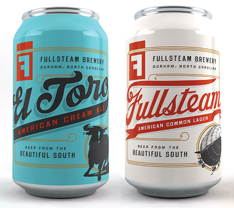 Fullsteam Brewery Cans