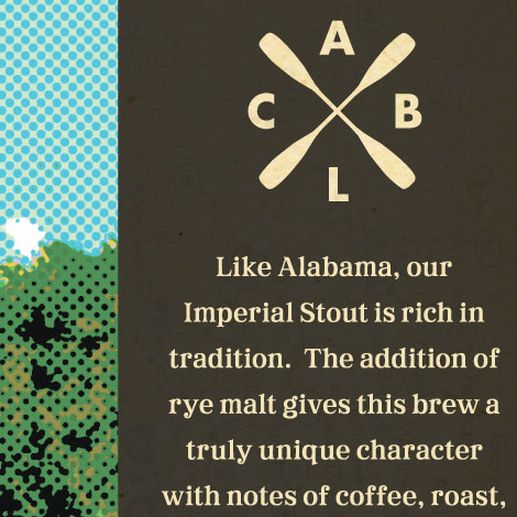 Cahaba Rye Imperial Stout Label