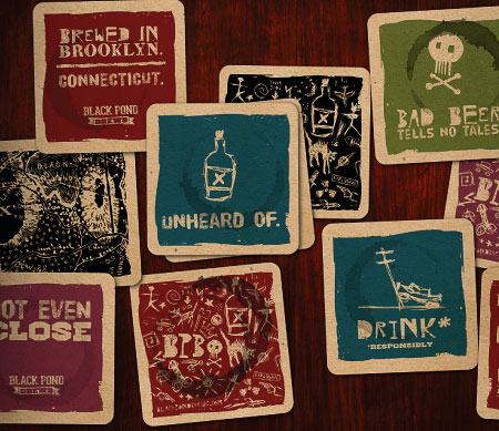 Black Pond Brews Coasters