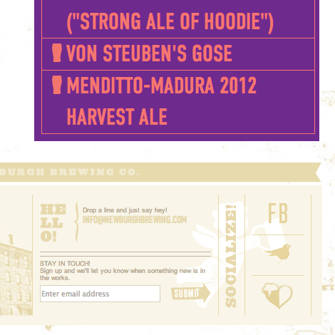 Newburgh Brewing Company Website