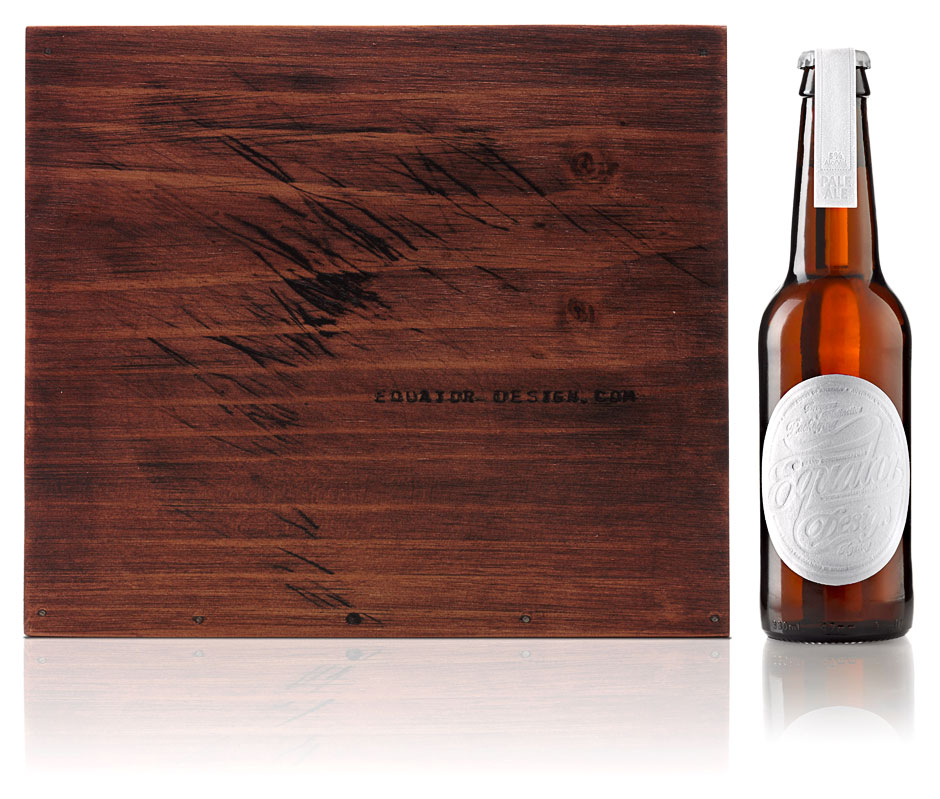 Equator Design Beer Case and Bottle