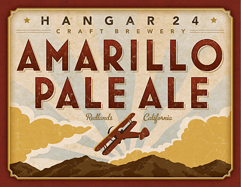 Hangar 24 Craft Brewery Amarillo Pale Ale Label