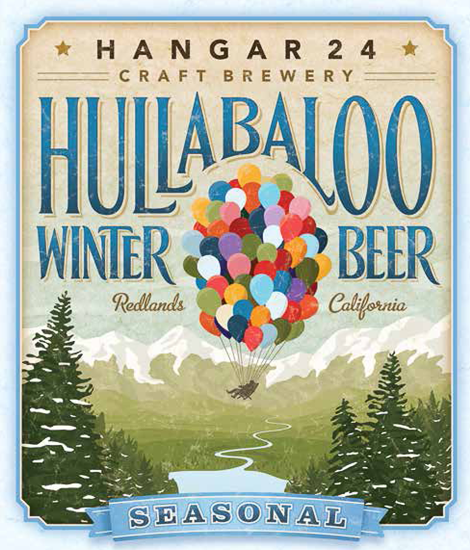 Hangar 24 Craft Brewery Hullabaloo Label