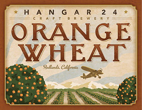 Hangar 24 Craft Brewery Orange Wheat Label
