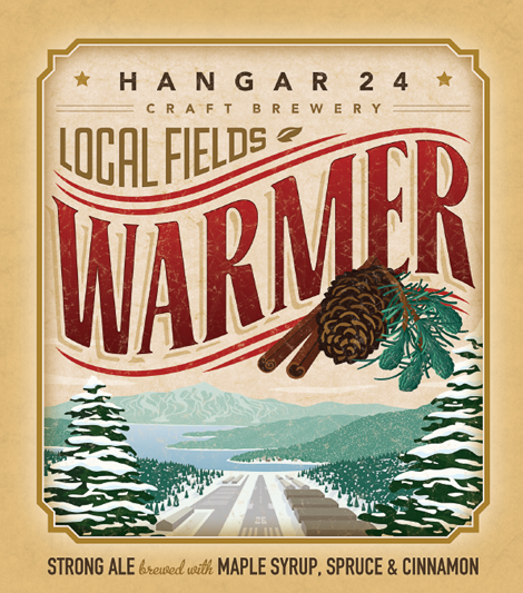 Hangar 24 Craft Brewery Warmer Label