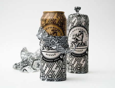 Velkopopovicky Kozel Beer Can Packaging
