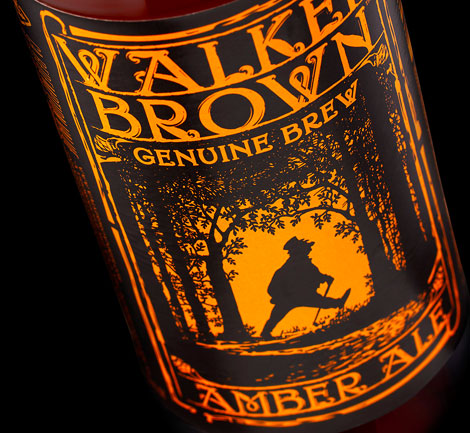 Walker Brown Beer Label