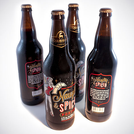Russell Brewing Naughty & Spice Bottles