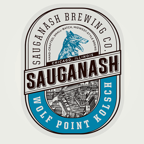 Sauganash Brewing Co. Label