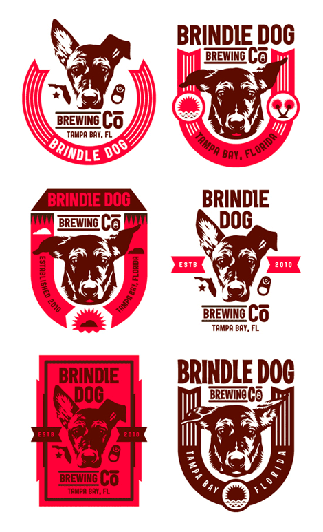 Brindle Dog Brewing Co. Logo
