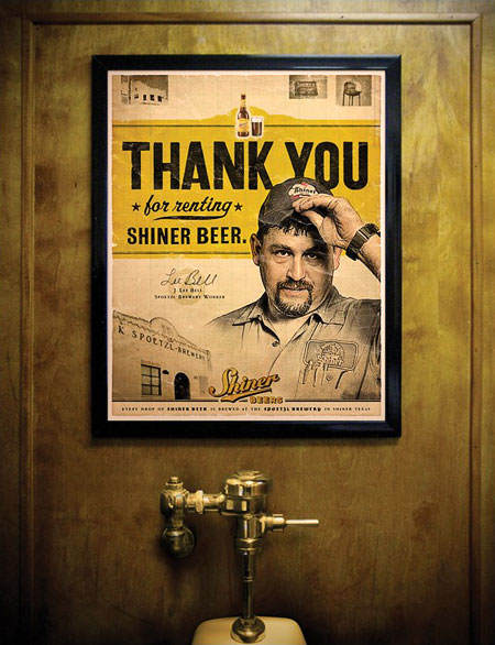 Shiner Urinal Marketing