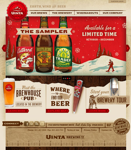 Uinta Brewing Website