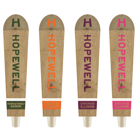 The Hopewell Brewing Co. Taps