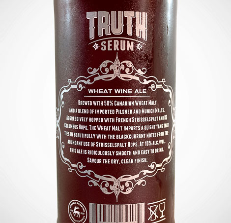 Russell Brewing Truth Serum Bottle
