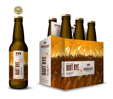 Monocacy Brewing Company Riot Rye Packaging