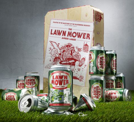 Lawn Mower Amber Lager Packaging