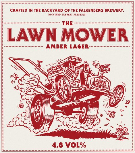 Lawn Mower Amber Lager Poster