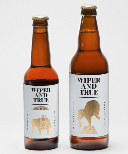 Wiper and True Beer Bottles