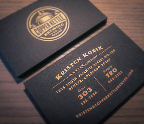 Copper Kettle Brewing Business Card