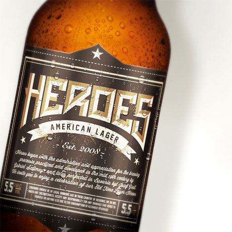 Heroes American Lager Packaging
