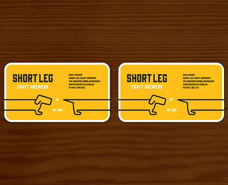 Short Leg Craft Brewers Business Cards