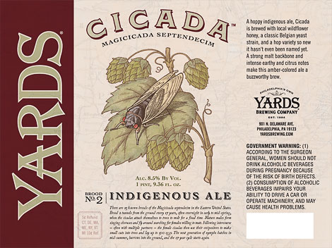 Yards Brewing Cicada Label