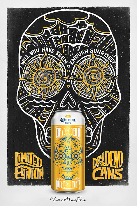 Corona Day of The Dead Cans