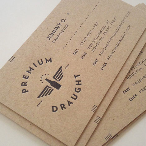 Premium Draught Business Card