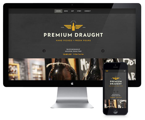 Premium Draught Website