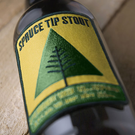 Spruce Tip Stout Label