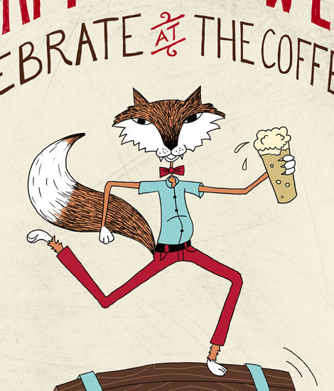 The Coffee Fox Poster