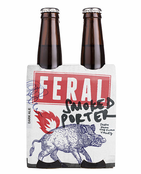 Feral Smoked Porter Packaging