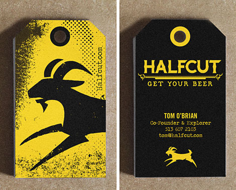 HalfCut Business Cards