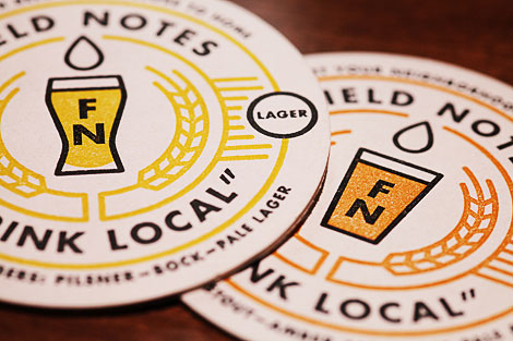 "Field Notes ""Drink Local"" Coasters"