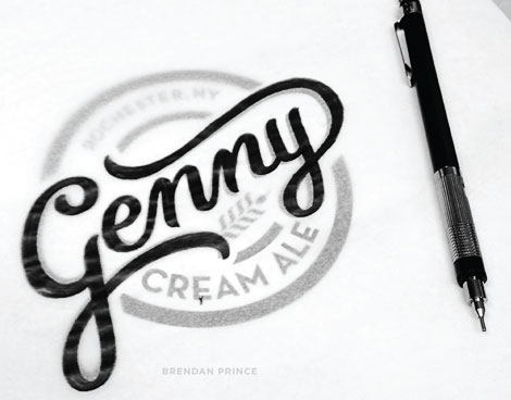 Genny Cream Ale Logo Sketch