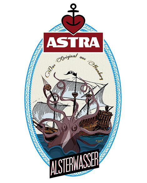 Astra Beer Labels