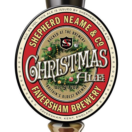 Shepherd Neame Christmas Ale Pump Handle