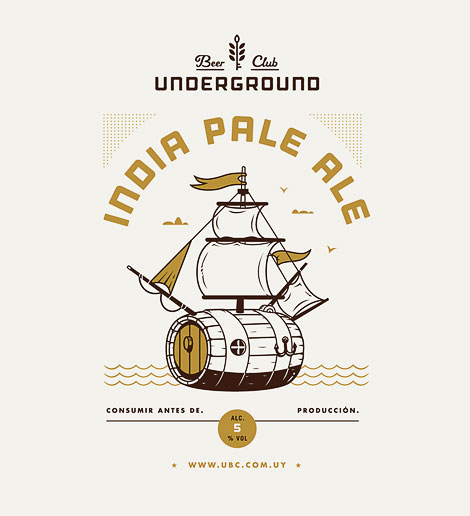 Underground Beer Club Label