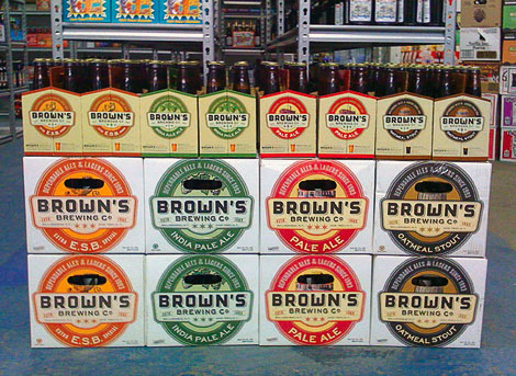 Brown's Brewing Display