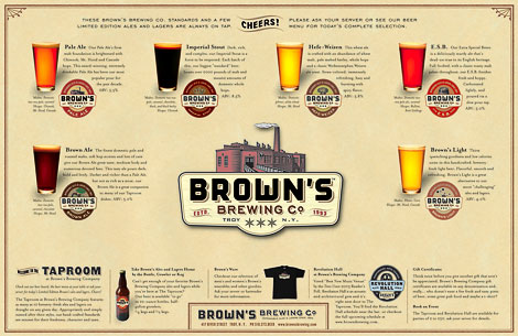 Brown's Brewing Menu