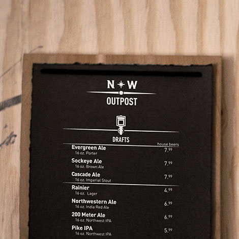 NW Outpost Menu