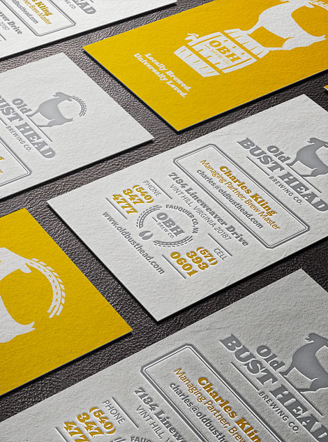 Old Bust Head Business Cards