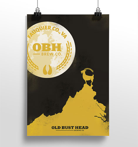 Old Bust Head Poster