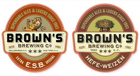 Brown's Beer Labels