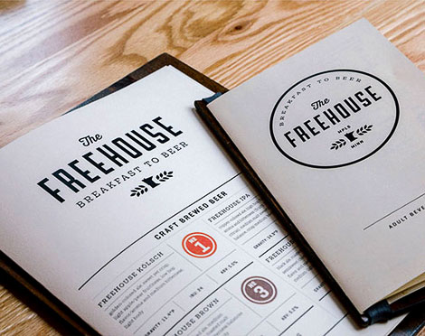 The Freehouse Menu