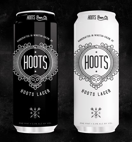 Hoots Beer Cans