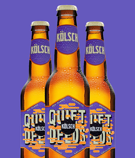 Quiet Deeds Kolsch Bottles