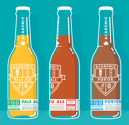 Academic Brewery Bottles