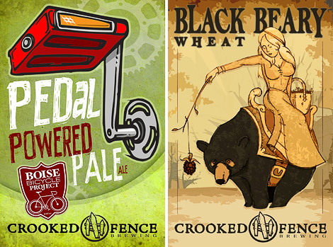 Crooked Fence Brewing Labels